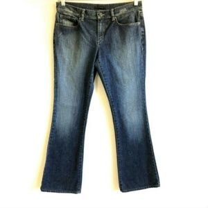 Elie Tahari Jeans 8 Bootcut Distressed Stretch